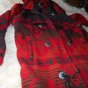 Woolrich Indian blanket Coat Vintage 1970's